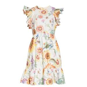 Banjanan Perla Floral Flutter Sleeve Minidress NWT